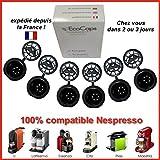 ECOCAPS, 6 capsules rechargeables pour Nespresso + Brosse et Cuillère