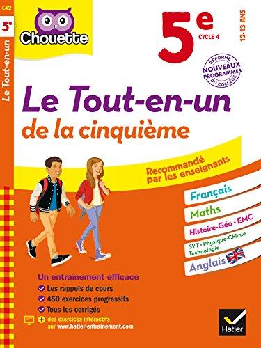 Chouette Le Tout-en-un 5e: cahier d'entraînement et de révision dans toutes les matières par Pascal Bihouée