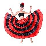 Neueste Mädchen Gypsy/Flamenco/Bauchtanz/Spanisch Bull Performance abgestuftes Rock-Große ~ geeignete Mädchen Höhe 140-150 cm