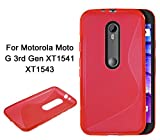Ziaon S-Line TPU Soft Gel Back Cover Case For Motorola Moto G3 3rd Gen - Pink Amazon