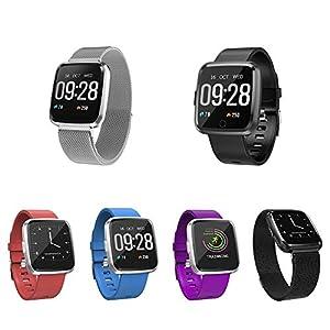 Cracklight IP67 intelligente Uhr, Wasserdichter Eignungs-Verfolger mit Herzfrequenz-Monitor-Tätigkeits-Verfolger, Schlaf-Monitor, Schrittzähler Bluetooth Smartwatch mit Blutdruck für Android IOS