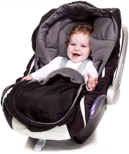 Wallaboo Footmuff newborn arctic black Fußsack