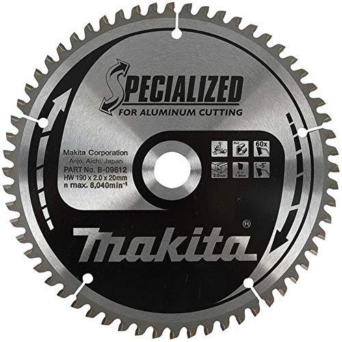 MAKITA B-12435 - Disco de sierra aluminio de 210x2.8 llanta 2 mm 54z -5 grados eje de 30 arandela reduccion 25