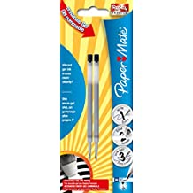 Paper Mate Replay Premium Medium Refill Erasable Gel Pen - Black (Pack of 2)