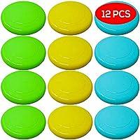 BRAMBLE! 12 Frisbee de Colores. Surtido de platillos voladores de Colores. Diversión Ideal para Adultos y niños.