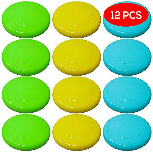 12 Farbige Frisbee Wurfscheiben & Frisbeescheiben – Auswahl an Hellen Farben – Perfekter Spaß für Erwachsene, Kinder, Sport, Spiele & Outdoor