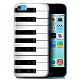 Coque de Stuff4 / Coque pour Apple iPhone 5C / Piano Design / Clés/Boutons Collection