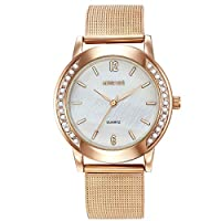MESTIGE Womens Quartz Watch, Analog Display and Stainless Steel Strap MSWA3181