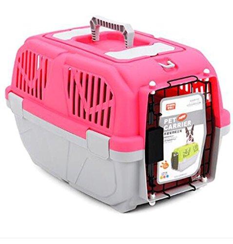 KKZLL Transportbox Box Katze Käfige von Air Box Luft Käfig Haustier Koffer Flug Käfig geprüft , red