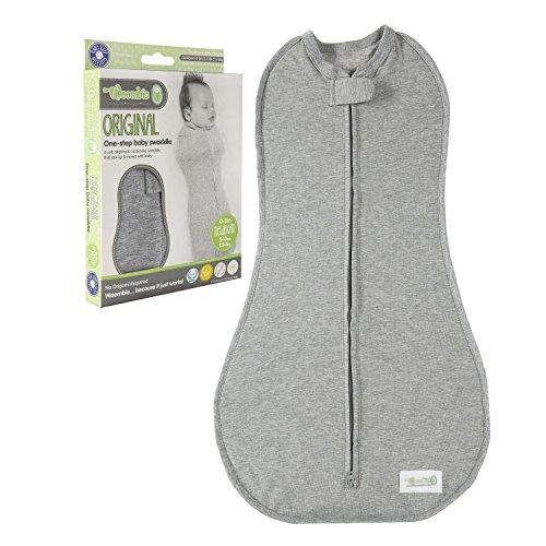 Woombie Original one-step Baby Swaddle, 0-3 Monate ,Grau (heathered Grey )