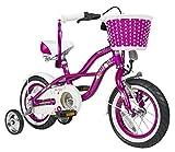 BIKESTAR® Premium Design Kinderfahrrad für coole Kids ab 3 Jahren ? 12er Deluxe Cruiser Edition ? Creamy Violett