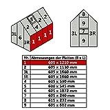 Jawoll Hohlkammerplatte für Gewächshaus Gartenhaus Treibhaus (Nr. 1 (605 x 1210 mm))