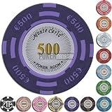 Fiches / Chips Poker MONTECARLO 14gr. 500 euro - Blister da 25 Fiches