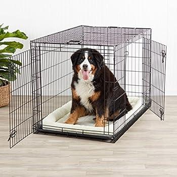 AmazonBasics Cage pliante en métal avec 2portes pour chien TailleXL