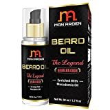 #4: Man Arden Beard & Mustache Oil - The Legend 50ml - With Pure Macademia Oil, Almond, Olive, Avocado and Apricot Oil - No Mineral Oil, Sulphate