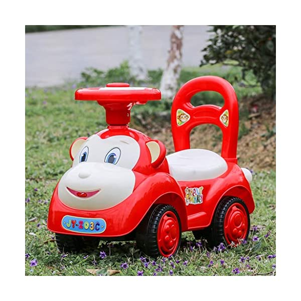 Twist car Swing car Children With Music Baby Scooter Walker Four-wheeler Yo Car 1-3 Years Old Baby Toy Car FANJIANI (color : Red) Twist car ▶Tip: The delivery time of the product is 8-15 days, If you have any questions, please feel free to contact us ▶Environmental PP material, non-toxic, no odor, corrosion resistance, high temperature resistance, anti-drop, shockproof, baby play more assured ▶ Let the baby stimulate the left and right brains by grasping and promote the development of the cerebellum, By constantly adjusting the steering wheel, you can exercise your baby's sense of direction and flexibility, and effectively develop your baby's potential 3