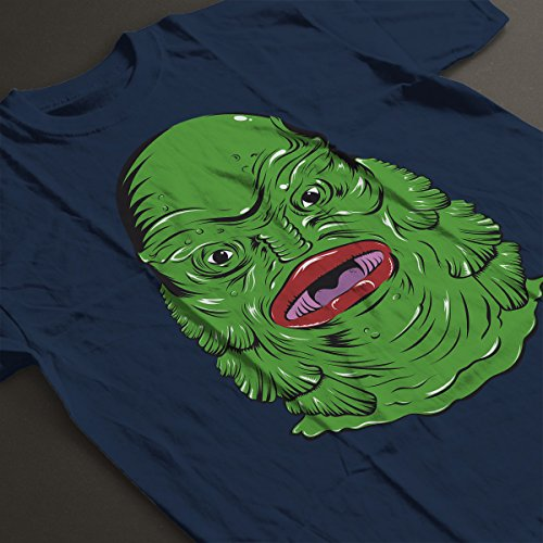 Creature From The Black Lagoon Face Men's T-Shirt Navy Blue