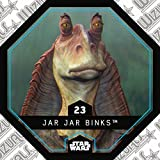 Rewe STAR WARS Cosmic Shells Normal 23 Jar Jar Bings+ WIZUALS STICKER