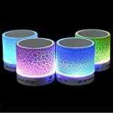 HPDeal Rechargeable Bluetooth Speaker WITH LED Wireless Audio Receiver Outdoor, Home Theatre Portable USB MP3 Player Stereo Surround Loud Mini Radio Bluetooth Speaker Speakers With Light Support TF Card And Aux With MIC And Phone Call Receiving Feature (A