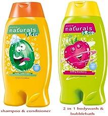 Avon Natutals Kids Combo ( shampoo + 2 in 1 bodywash & bubble bath)