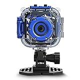 DROGRACE Digitalkamera Kinderkamera Video Kamera wasserdicht Action Cam Unterwasserkamera Helmkamera Einsteigerkamera für Kinder Geburtstagsgeschenk Urlaubsbegleiter mit 1.77 Zoll Bildschirm (Blau)