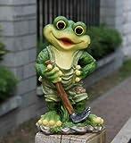 Design Frosch 29 cm Hoch 11151 Deko Garten Gartenzwerg Figuren Dekoration (Design 4)