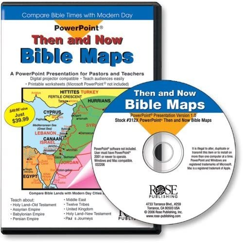 Then and Now Bible Maps (PowerPoint Presentation (PowerPoint Presentation) (PowerPoint Presentations) by Rose Publishing (2004-03-31)