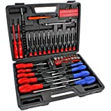 SPARES2GO 71 Piece Complete Magnetic and Precision Screwdriver & Bit Tool Set