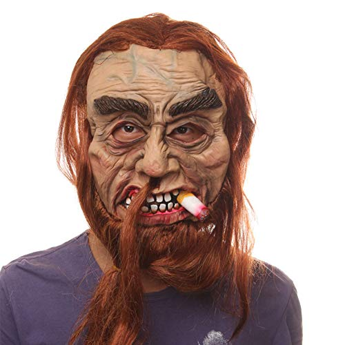 Unbekannt Starker Raucher Gruselige Maske für Halloween, Karneval Party, Haunted House Dekoration, Horror-Themenbar, Cosplay