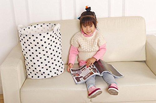 Weimay Lavandería Almacenamiento Cesto Cesta Calcetines Almacenamiento de juguetes de almacenamiento Lavandería Organizador de paño con mangos