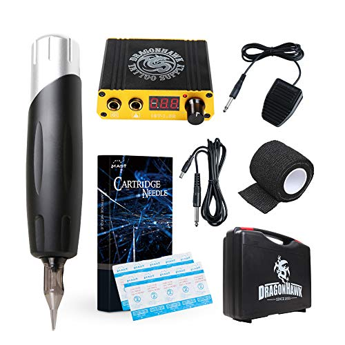 Dragonhawk Mast S2 Tattoo Kit Rotary Machine Pen Power Supply Disposable Needles for Tattoo Artist BJT-340