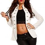 Damen Blazer Militäry Style , Farbe:Weiß2;Größe:36/S