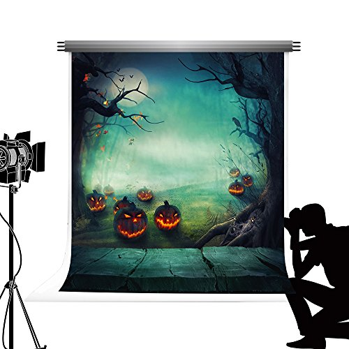 (Kate Green Foto Hintergrund Halloween Hintergrund Kürbis Laterne Foto für Studio Fotografie Fotoshooting 5x7ft / 1.5x2.2m)