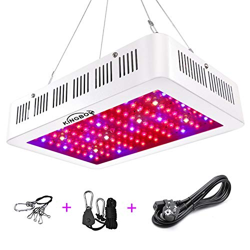 KINGBO 600W Doppel Chips LED Grow Light Vollem Spektrum LED Pflanzenlampe mit Rope Hanger for Indoor Greenhouse Hydroponic Plants Veg and Flower -
