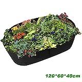 Windyeu Sacco per Piante in Feltro 120x60x40cm Coltivazione Vaso Fioriera Piante Verdure Grande Aiuola Letto Rialzato Giardino(120 * 60 * 40cm)