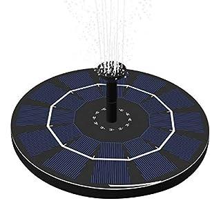 Keyaway 1.8W Solar fountain Pump,Float Garden Solar Water Pump for Garden Birdbaths Ponds Decoration(2019 New Versionn with IC sensor)