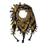 Shemagh 100x100cm 100% Baumwolle schwarz/gelb
