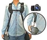 Coolway® Professional Schnelle Schießen Kamera-Schultergurt Canon Dual Schulterriemen Gurte für DSLR Digitale Canon Nikon SLR Sony Pentax Panasonic Olympus-Kamera