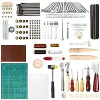 Y-Step DIY - Juego de herramientas de costura y artesanía de piel, perforadora de cuero, herramienta de costura de trabajo de cuero 71 PCS