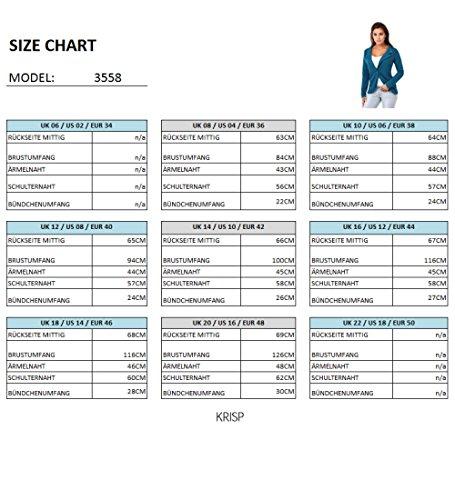 KRISP® Damen Elegante Business Blazer Jacke Anthrazit (3558)