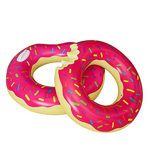 NAN® Donut Pool Aufblasbare Lazy Tube Float Pool Spielzeug (60-100Cm),Red,70cm (Pool Tube Float)