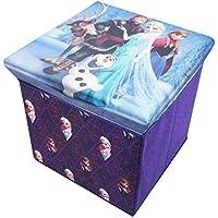 Preisvergleich für Disney AUFBEWAHRUNGSBOX SPIELZEUGKISTE/HOCKER, MIT STAURAUM TRUHE (LILA/BLAU)
