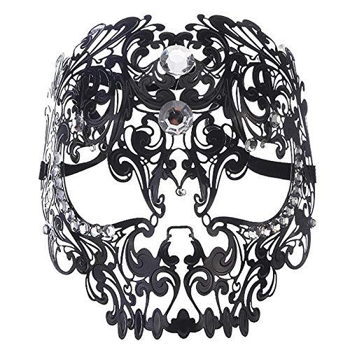 Zwei Face Kostüm Frauen - QTJKH Horror Maske Venezianische Maskerade Halloween