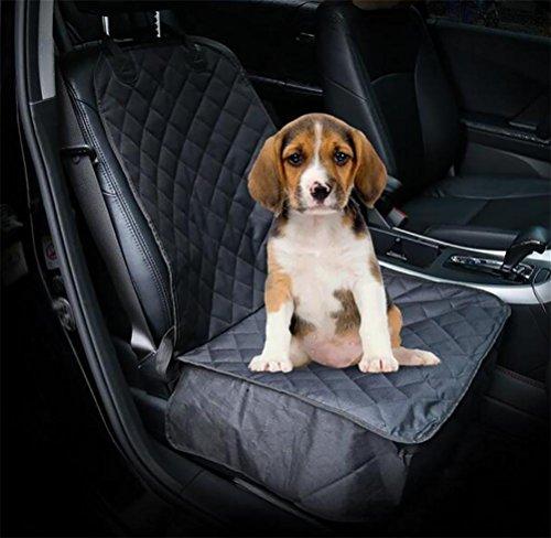 Lohua copri sedile per cani, autoadesivi universali, lembi laterali supplementari, nonslip esclusivo, imbottito imbottito trapuntato, nero