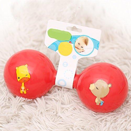 Weekendy Jouet drôle de bébé  s Éducatifs Coloré Sensory Soft Bell Sonner Rattle Haltère  s Funnny Toys Cadeau | Choix Des Matériaux