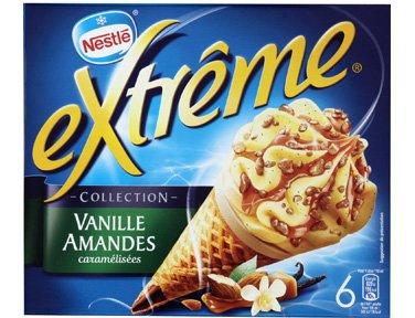 Extrême® - Extrême® vanille amandes caramélisées - 6 x 66 g - Surgelé