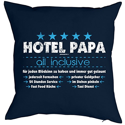 Goodman Design ® Papa Kissen-Bezug ::: Hotel Papa All Inclusive ::: Kuscheliges zum Vatertag
