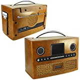 Tuff-Luv Radio Roberts DAB Torrent 93i Retro Vintage étui en cuir - Brun