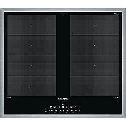 Siemens ex645fxc1e iQ700hobs eléctrico/vitrocerámica/vidrio y cerámica/58,3cm/Flexible de zonas–2zonas de cocción de inducción/Negro.