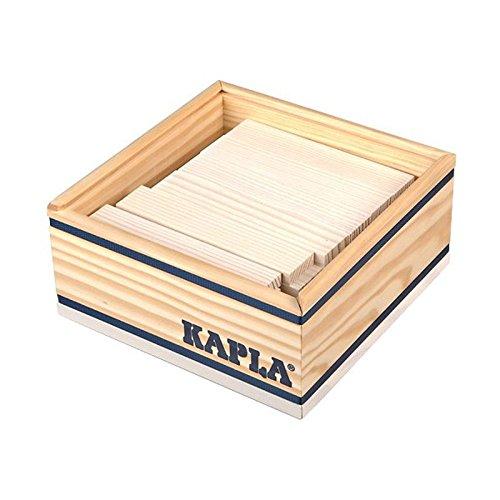 Kapla 8034 Holzplättchen 40-Teilig in Box Weiß